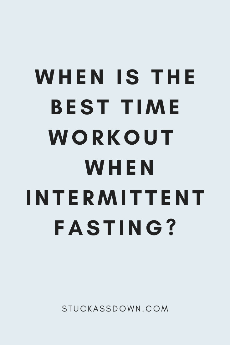 intermittent fasting and exercise