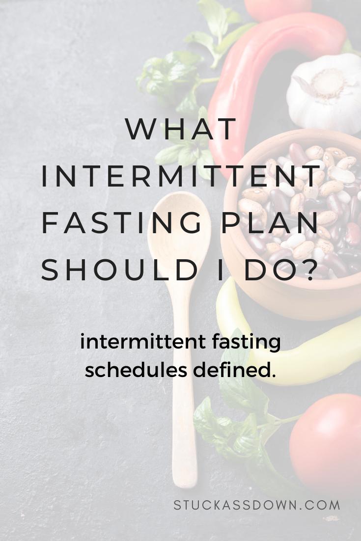 Intermittent Fasting Schedules Defined.